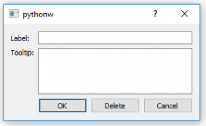 Tooltip and label dialog